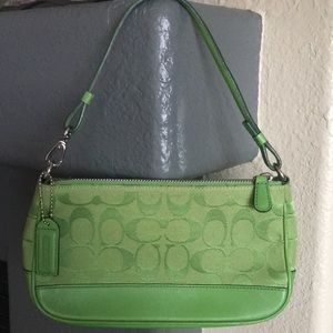 Coach Green Demi Handbag -New